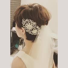 伸ばさなくても大丈夫ショートボブの花嫁さんにおすすめの髪型