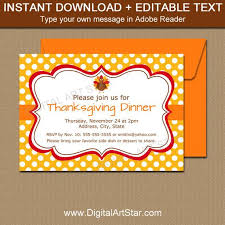 Thanksgiving Invites Thanksgiving Invitation Editable Thanksgiving Invites