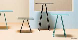 luna pyramid style high cafe table in black