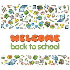 Back To School Invitation Template Welcome Back Greeting Card Doodle Welcome Back To School Poster Hand
