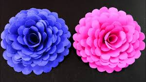 Make Easy Paper Flower How To Make Easy And Simple Paper Flower Diy Paper Crafts