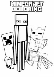 This minecraft coloring page features a wolf, a neutral, which is easily allied with the players. Printable Minecraft Coloring Pages Coloring Home
