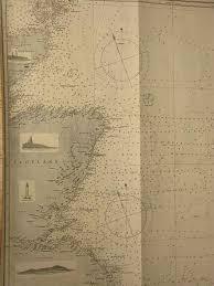 Sea Charts Scotland Original Antique Victorian Vintage British Admiralty Marine