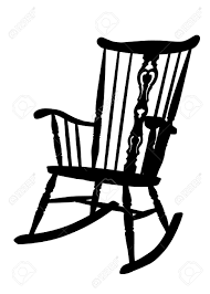 rocking chair clipart. vintage rocking chair stencil - left side tilted stock vector 15627082 clipart p