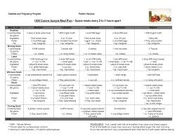 Diabetes Meal Planning Pdf Sample Diabetic Menu Magdalene Project Org
