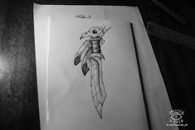 процесс создания эскиза татуировки