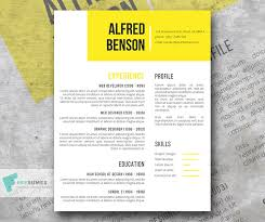 Creative Resume Templates Free Stunning Electric Yellow A Free Creative Resume Template for Word Freesumes