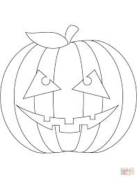 Disegno Di Zucca Di Halloween Spaventosa Da Colorare Disegni Da