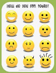 High Quality Smiley Face Mood Chart Mood Feelings Chart