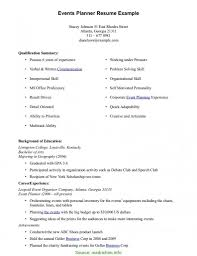 Cover Letters Things To Include In An Event Planner Cover Letter