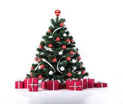 Decorating Christmas Tree With Balls Christmas Tree With Golden Balls Decoration And Red Gifts 25
