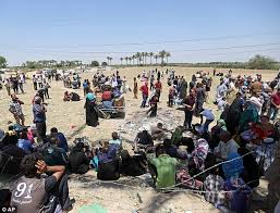 Image result for iraq exedus displacement carnage civilians mothers dea children