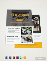 Brochure Templates For It Company Free One Page Company Brochure Template Word Psd