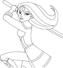 free printable super hero high coloring page for katana e of my