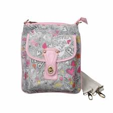 Coach Fashion Turnlock Signature Small Grey Pink Crossbody Bags EOQ