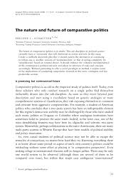 the nature and future of comparative politics european political science review 2009 1 1