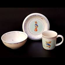 wedgwood peter rabbit cup bowl plate child dish set 2002 christening baby gift wedgwood