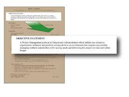resume objective statement resume objective statment