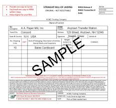 Short Form Bill Of Lading Template Blank Bol Expin Memberpro Co Bill Of Ladi Template Blank