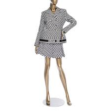 Christian Dior Checkered Skirt Suit
