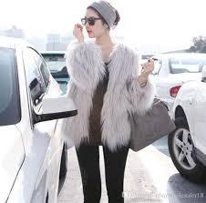 chic designer women pink fur coats long hair furry outerwear winter short fur jackets black faux