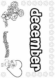 December Coloring Pages Zuckett