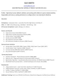 High School Resume Template Word Sample Under Graduates Resume