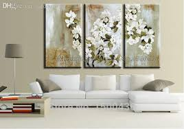 2018 hand painted modern white flower paintings large abstract art oil home decorative wall canvas picture set from garden1988 179 25 dhgate com