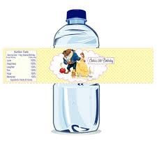 Creative diy personalized water bottle ideas Silhouette Cameo Custom Belle Printable Water Bottle Labelspersonalized The Beauty And The Beast Bottle Tags Diy you Print Water Bottle Label Studio Idea Catch My Party Custom Belle Printable Water Bottle Labelspersonalized The Beauty