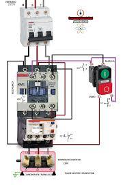 single phase motor starter wiring diagram contactor