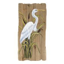 w 8777 white heron on white heron wall art with white heron wood wall art globe imports