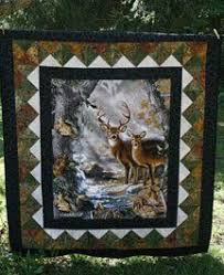139 best Wildlife Quilts images on Pinterest | Quilt block ... & quilt patterns with deer panels | Kits include pattern and fabric for top  and binding, Adamdwight.com