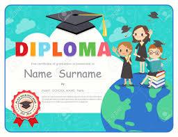 Free Graduation Background Designs Primary School Kids Graduation Diploma Certificate Background