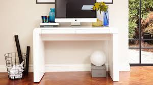 modern home office featuring glossy white. Modern Home Office Featuring Glossy White. White Desk. Contemporary Gloss Desk