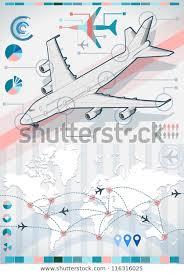 Isometric Airplane Infographic 3d Diagram Aviation Stock