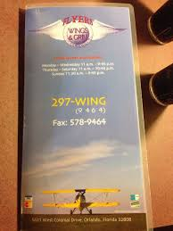 flyers orlando flyers wings grill menu menu for flyers wings grill west