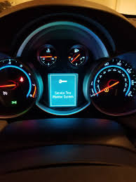 2014 Chevy Cruze Oil Light Reset Chevrolet Cruze Questions Why Is My Dashboard Saying