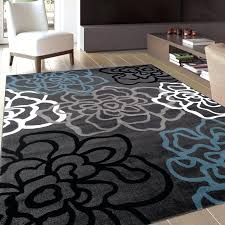 gray blue area rug awesome charming brown and blue area rug corug