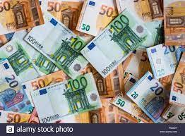 Euro Geld. Euro cash Hintergrund. Euro-Banknoten Stockfotografie - Alamy