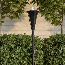 Outdoor torch lights Waterproof Outdoor Torch Lamp 45 Metal Fuel Canister Flame Light For Citronella With Fiberglass Wick Adjustable Height For Backyard Patio By Pure Garden United Creative Outdoor Torch Lamp 45 Metal Fuel Canister Flame Light For