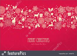 Merry Christmas Happy New Year Card Pattern Deer