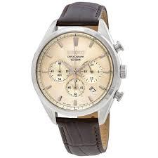 seiko ssb293p1 men s chronograph leather cream dial