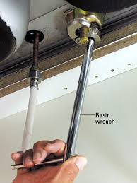 How do I tighten a PVC fitting in a narrow space behind a sink