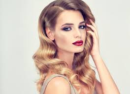 hollywood glamour hairstyles glamorous makeup ideas red lips and dark eyes confetti