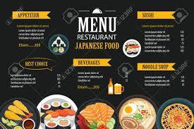 Food Menu Design Japanese Food Menu Restaurant Brochure Design Template Royalty Free