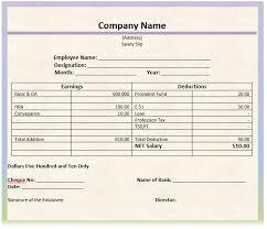 Salary Slip Format - Cover Letter Samples - Cover Letter Samples