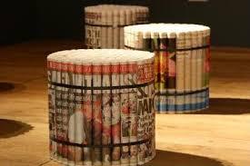 newspaper furniture recycled materials design ideas