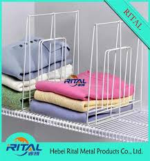 Plastic Coated Wire Racks Pvc Coated Metal Closet Hanging Wire Shelf With White Color Buy 57