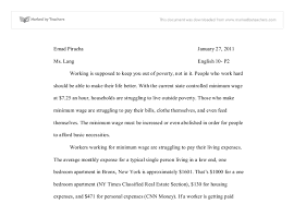 should we raise minimum wage essay dissertation hypothesis  custom writing service