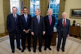 former president george hw bush president elect barack obama president george w bush library oval office